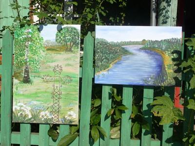 Šią vasarą išbandžiau save tapybos srityje. Pirmieji darbai ir pirmoji paroda. Keistas jausmas.