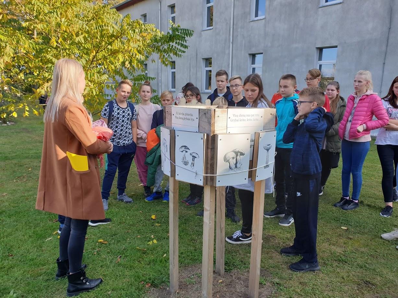 Mūsų lauko klasėje mokėsi mokiniai iš Tauragės rajono Jovarų pagrindinės mokyklos