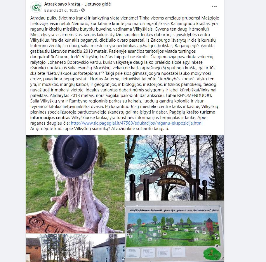 Pagėgių krašto turizmo informacijos centras reklamuoja mūsų sodelius. Ačiū